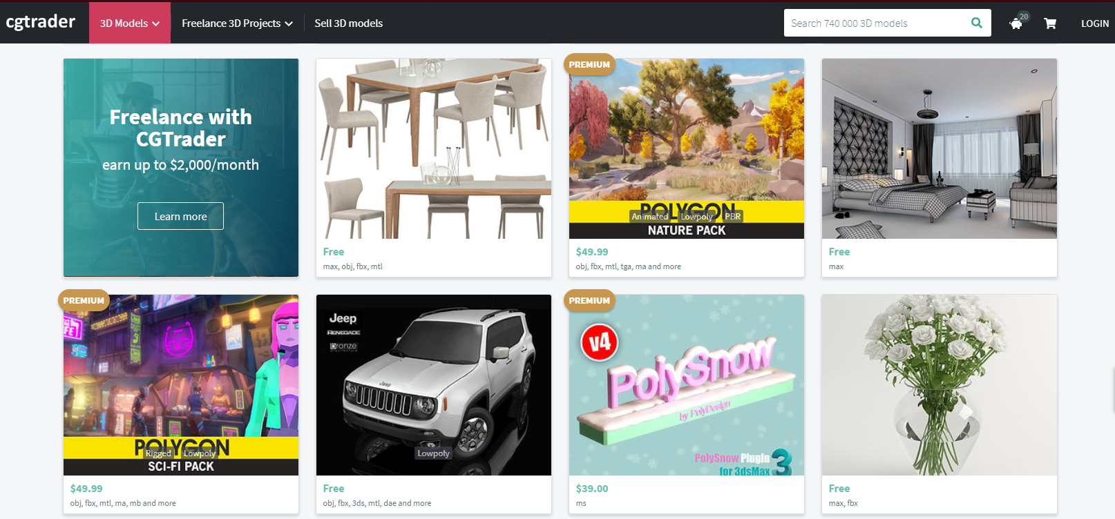 Top 5 Sites To Download Free 3D/CGI Models | eArtisan